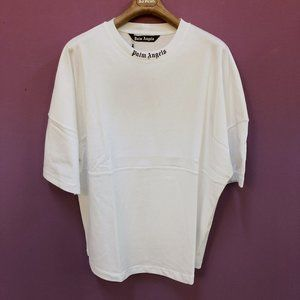 Palm Angels OVER SIZE White Short Sleeve T-Shirt